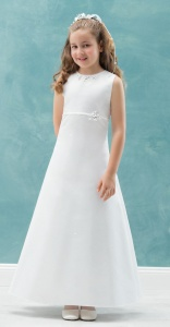 Emmerling White Communion Dress - Style Carrie