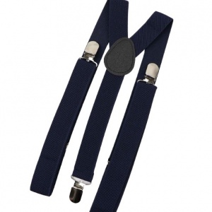 Children's Dark Navy Y-Back Adjustable Braces