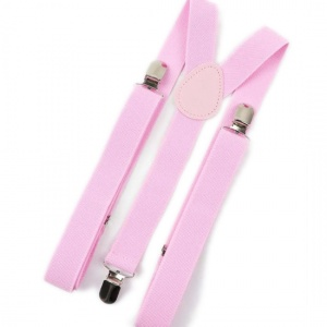 Children's Light Pink Y-Back Adjustable Braces