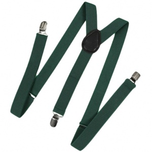 Children's Dark Green Y-Back Adjustable Braces