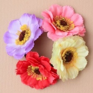 Girls Multi Coloured Flower Bun Garland / Scrunchie