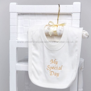 Ivory Cotton My Special Day Bib
