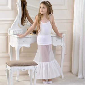 Girls Full Length Single Hoop Underskirt by Lacey Bell Style CP1