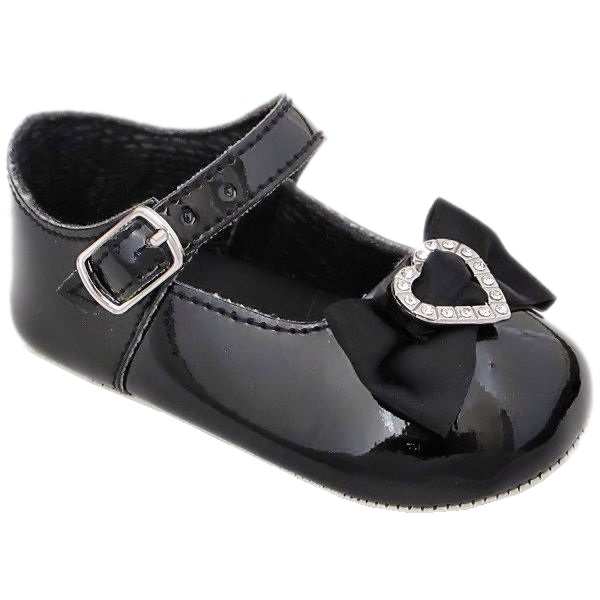Black Patent Pram Shoes