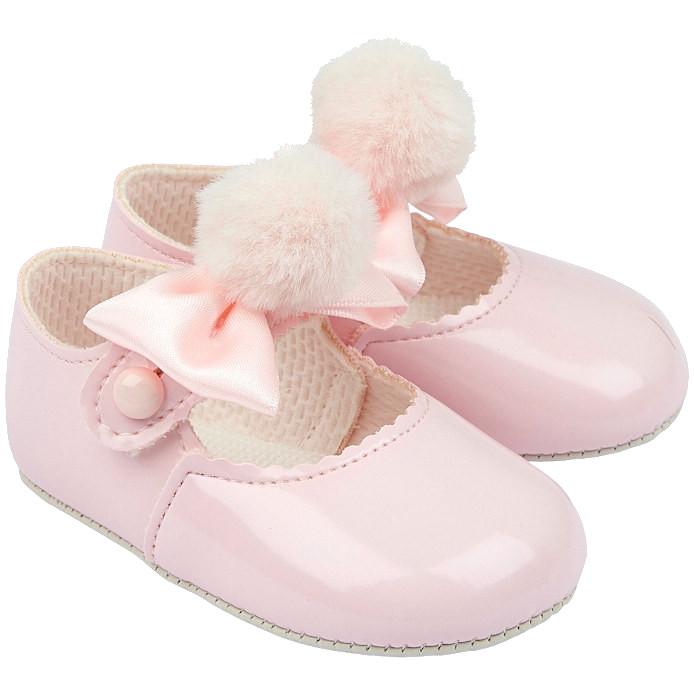 Baby Toddler Girls PINK Patent Shoes first shoes 3 months pram new pram