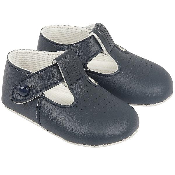 Baby Boys Navy Matt T-bar Pram Shoes  Baypods  cf42ad33ab39