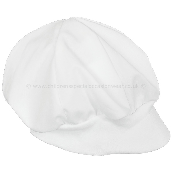 Baby Boys White Poly Cotton Christening Cap ff8785fd730