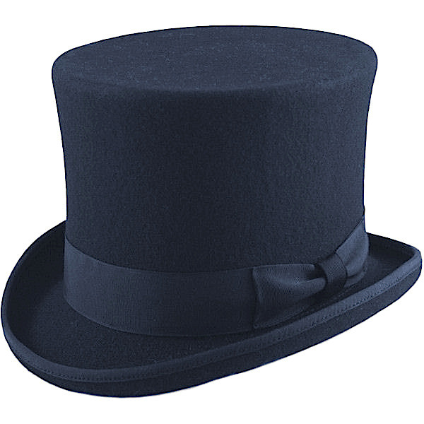 67c135df9cb Boys Navy Premium Wool Tall Top Hat
