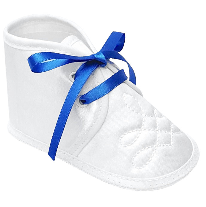 Boys White Satin Shoes