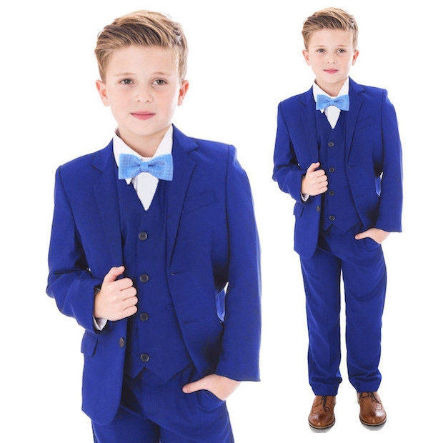 Electric Blue 5 Piece Bow Tie Suit | Baby | Boys | Wedding Suit ...