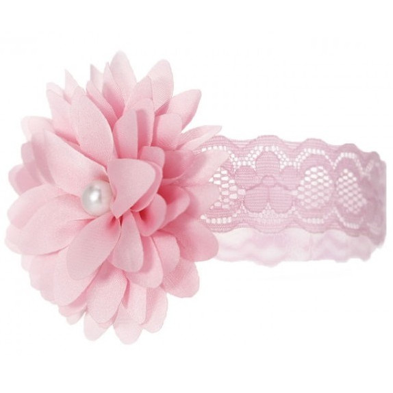 Babies//girls  pink   Headband with pink flowers