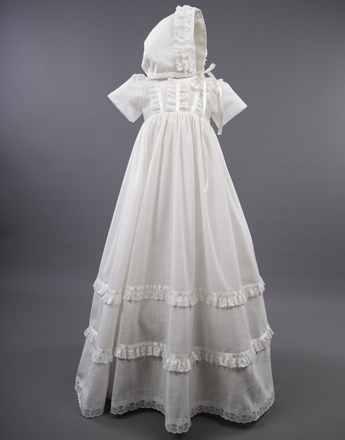 3504a7df96d5 Baby Girls Millie Grace Cotton Christening Gown with Bonnet - Irene ...