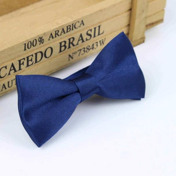 0bfc941c0169 Boys Navy Satin Bow Tie with Adjustable Strap ...
