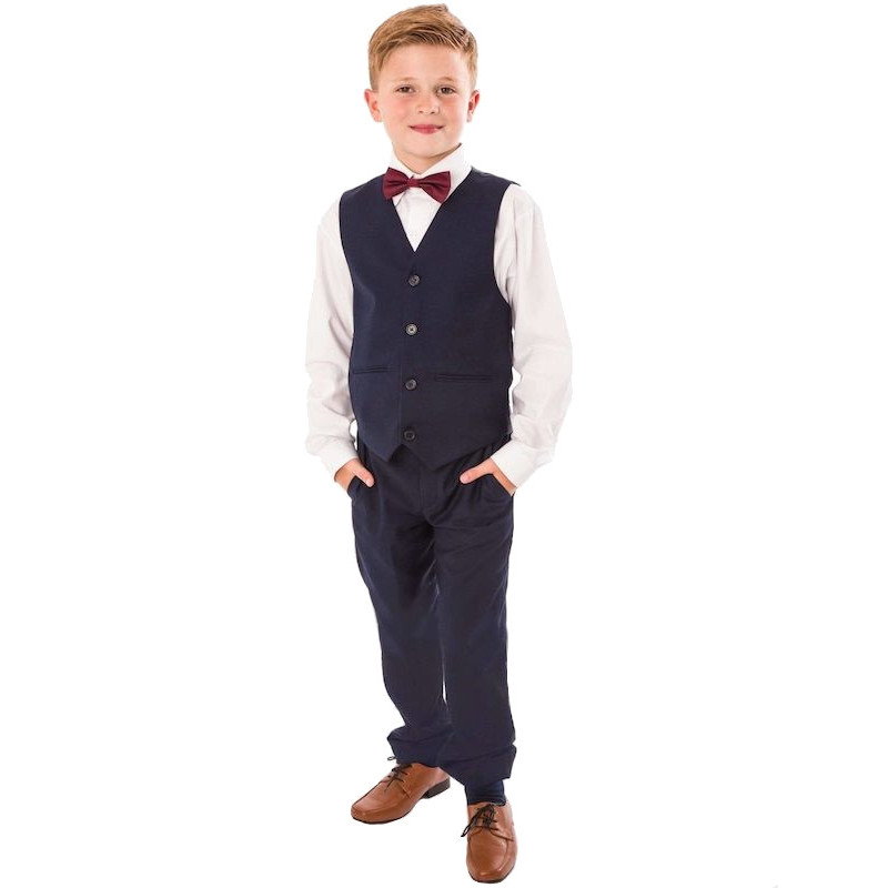 Navy 4 Piece Bow Tie Trouser Suit | Wedding Suit | Ring Bearer ...