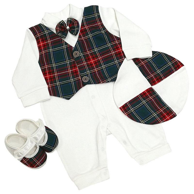 31e83dc6a Baby Boys Tartan Waistcoat Romper