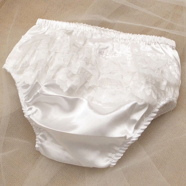 7b14fe1711db Baby Girls Frilly Knickers Christening Special Occasion Dress ...