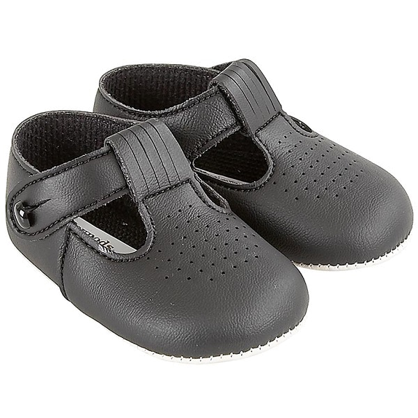 6521665859583 Baby Boys Black Matt T-bar Shoes | Baypods ...
