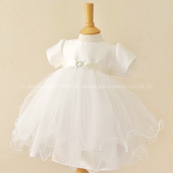 ad5d981fd7f Baby Girls Ivory Christening Dress   Baby Tulle Dress   Baby ...