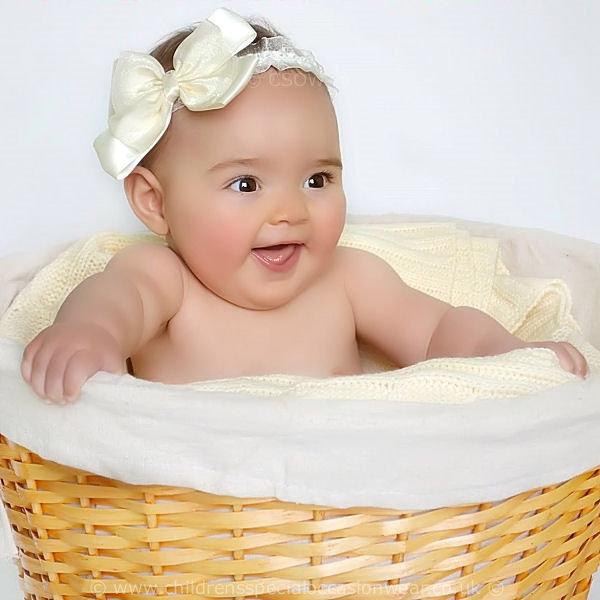 28165e1e29c5 Baby Girls Ivory Christening Headband