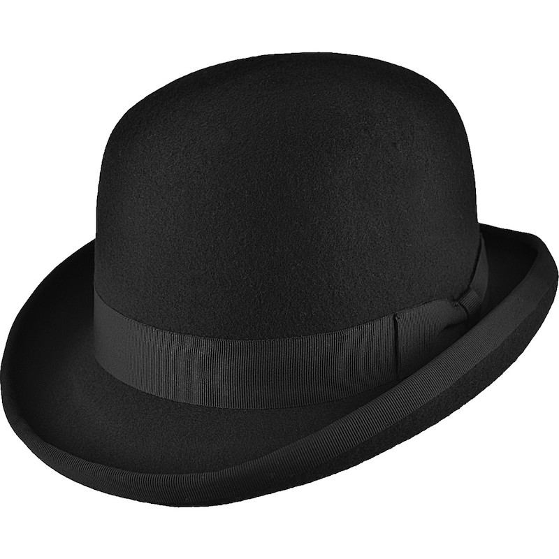 Boys Black Premium Wool Classic Bowler Hat eaf1344e04f