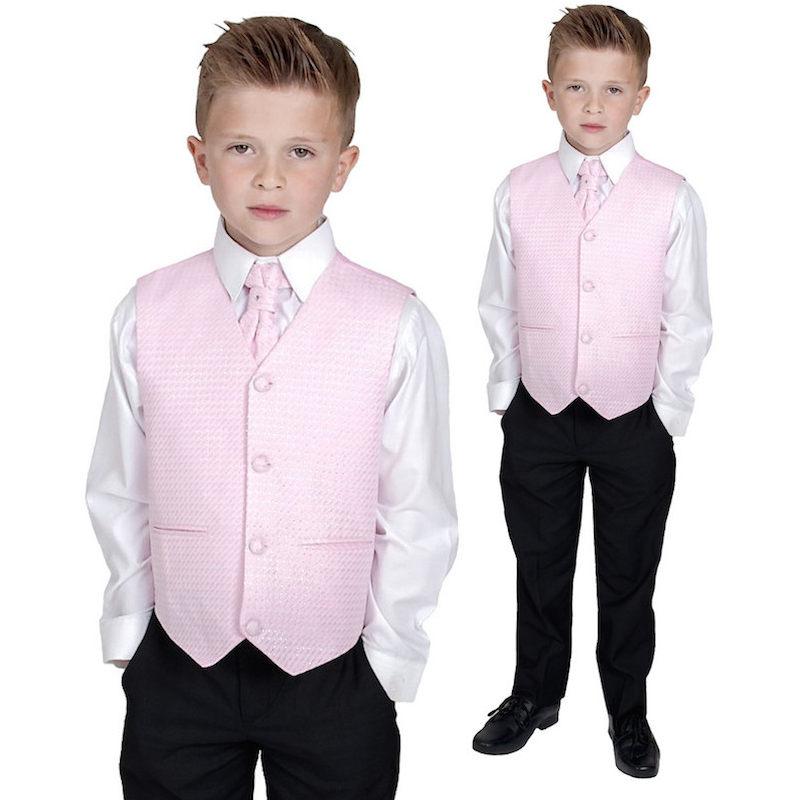 7aa2bede5 Boys Pink Waistcoat Suit