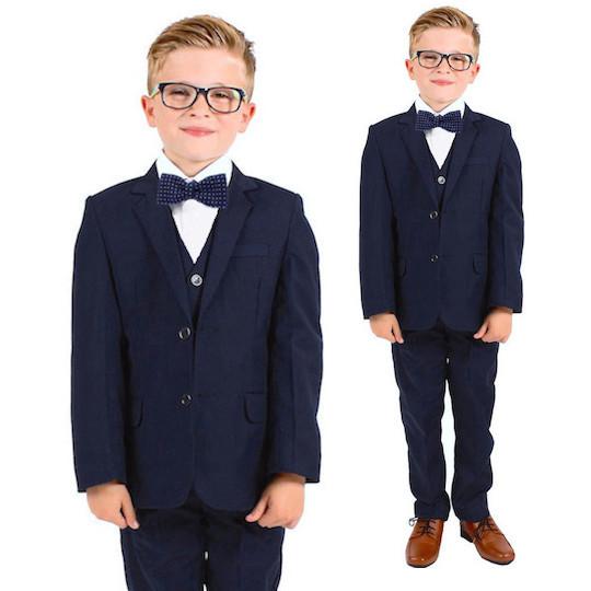 645d9d0ab63 Boys Navy Bow Tie Suit