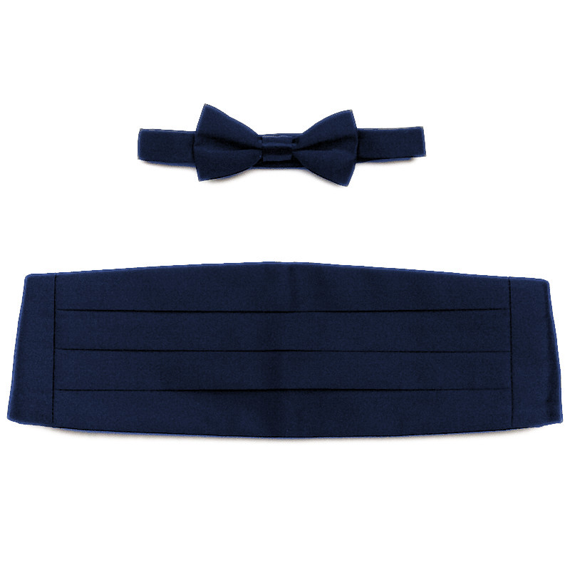 62e7c6b20d38 Boys Navy Satin Cummerbund and Dickie Bow Tie Set ...