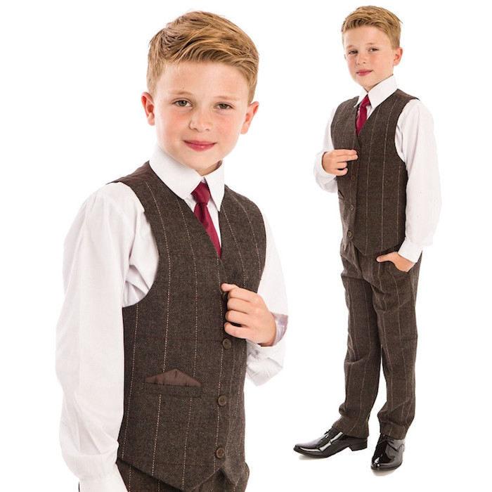 9bde9030a Boys Tweed Suit | Brown Tweed Page Boy Suit ...