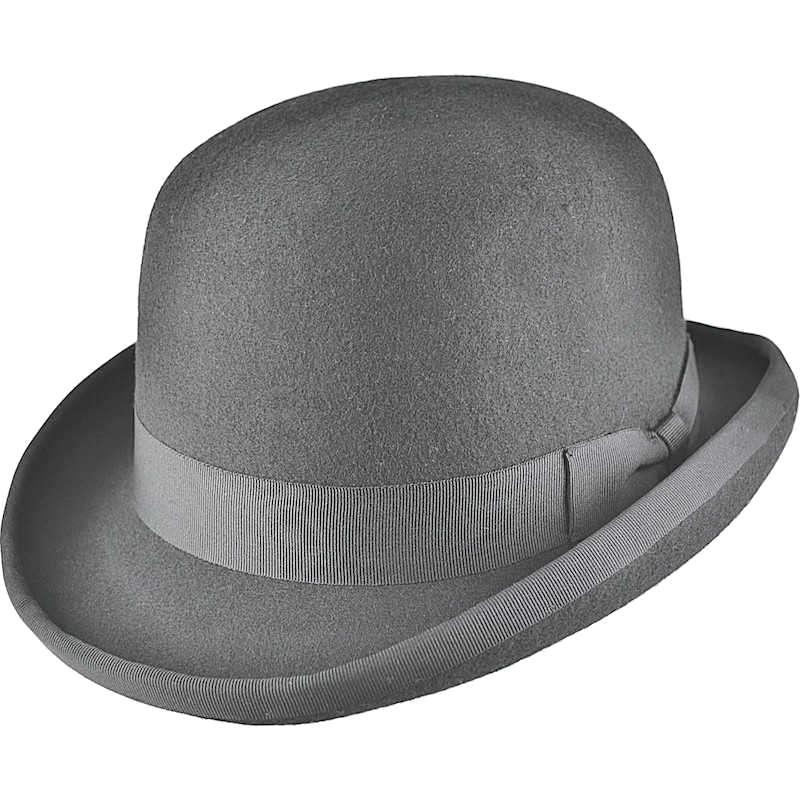 Boys Grey Classic Bowler Hat  57755e8be95