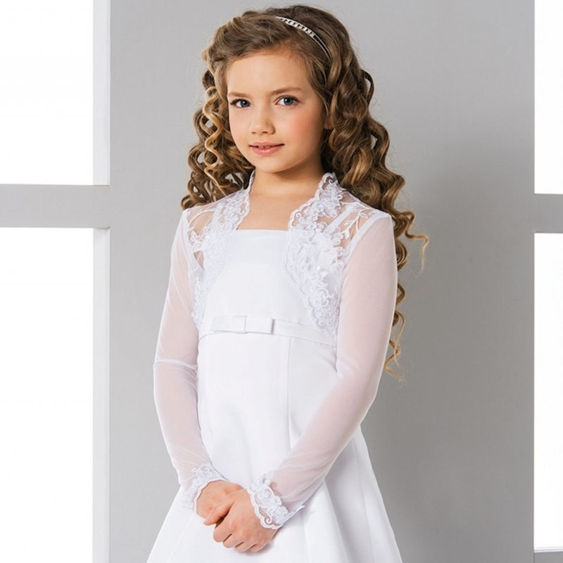 Girls Lace Tulle Bolero By Lacey Bell Style Cj151