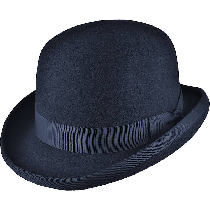 Boys Navy Premium Wool Classic Bowler Hat de2a9dab8af