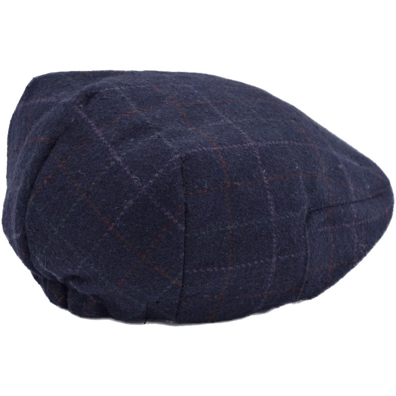 723b87d94b Boys Navy Tweed Check Flat Cap - childrensspecialoccasionwear.co.uk