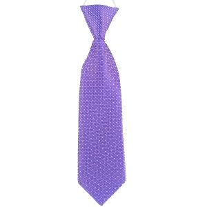 Boys Purple Dot Satin Tie on Elastic