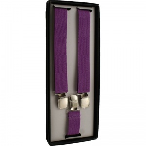 Boys Purple Adjustable Braces + Gift Box