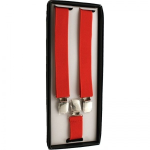 Boys Red Adjustable Braces + Gift Box