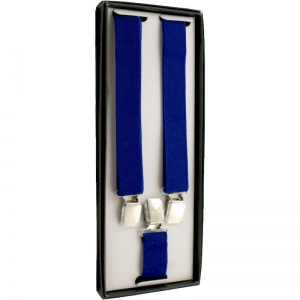 Boys Royal Blue Adjustable Braces + Gift Box