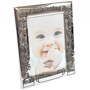 Silver Plated My Christening Day Photo Frame Gift