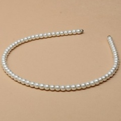 Girls Ivory Pearl Bead Alice Head Band