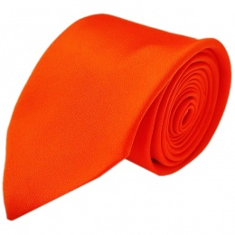 Boys Orange Plain Satin Tie (45'')