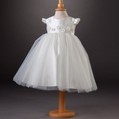 Girls Millie Grace 'Agnes' Satin & Organza Daisy Dress