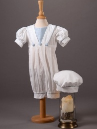 Baby Boys Cotton Romper & Hat - Archie by Millie Grace