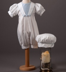 Baby Boys Millie Grace Archie Dupion Christening Romper & Hat