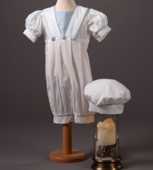 Baby Boys Millie Grace Archie Cotton Christening Romper & Hat