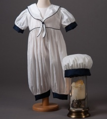 Baby Boys Millie Grace Austin Cotton Christening Romper & Hat