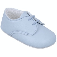 Baby Boys Sky Blue Matt Lace Pram Shoes 'Baypods'