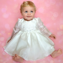 Baby Girls Ivory Butterfly Special Occasion Dress & Organza Bolero
