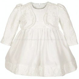 Baby Girls Ivory Embroidered Dress & Bolero Jacket