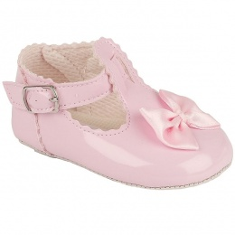 Baby Girls Pink Patent Baypods Pram Shoes