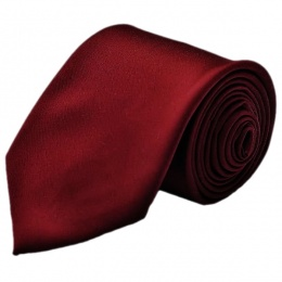 Boys Burgundy / Wine Plain Satin Tie (45'')