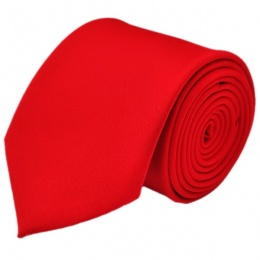 Boys Red Plain Satin Tie (45'')